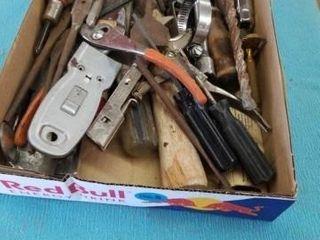 BOX OF MISCEllANOUS TOOlS