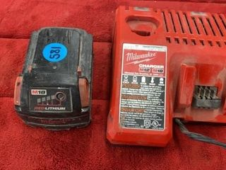M18 RED lITHIUM CHARGER AND MIlWAUKEE M12  18