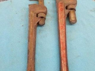 2 PIPE WRENCHES  14  AND 18