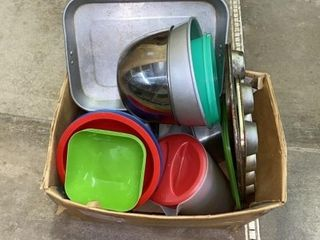 BOX OF All KINDS OF KITCHENWARE