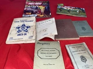 VARIETY OF BOOKS  HOT ROD MAGAZINE  SCHWINN 1971
