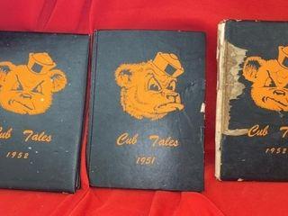 3 1952 YEARBOOKS FROM JANSEN  NE