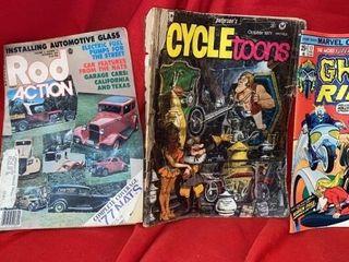 HOT ROD MAGAZINE FROM 1977  2 COMIC BOOKS