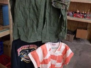 MIlITARY AND MISCEllANOUS lARGE SHIRTS