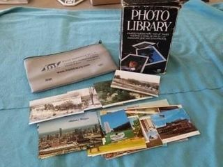 ADVERTISING BAG  POST CARDS PICTURES AND A PHOTO