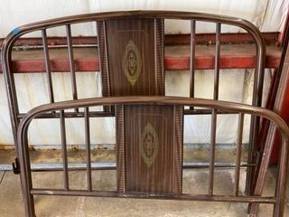IRON FUll SIZE BED WITH RAIlS FROM 1940IJS