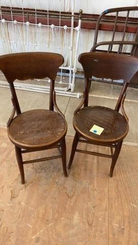 2 ANTIQUE CHAIRS  BENTWOOD