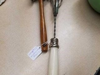 VINTAGE MEAT TENDERIZER AND EGG BEATER
