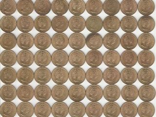 GROUP OF APPROX  100 JAMAICA HAlF PENNIES
