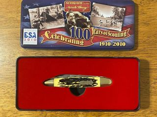 SCHRADE UNClE HENRY BSA 100TH ANNIVERSARY KNIFE