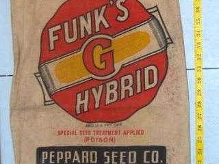 VINTAGE FUNK S SEED BAG DOUBlE SIDED  49RX8