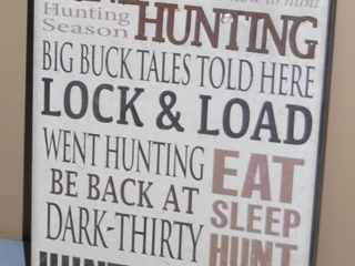 GONE HUNTING SIGN  49RX15