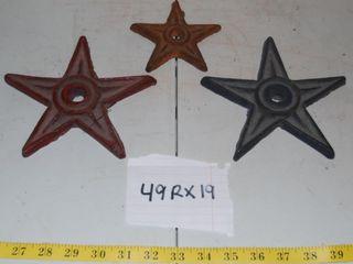 3 CAST IRON STARS  49RX19