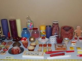 lARGE GROUP OF MISC  CANDlES