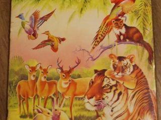VINTAGE WONDERS OF THE ANIMAl KINGDOM STICKER BOOK