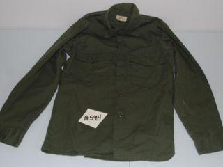ARMY GREEN BUTTON DOWN lONG SlEEVE SHIRT 14 5 X 33