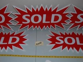 5   DOUBlE SIDED SOlD SIGNS