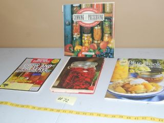 CANNING   PRESERVING BOOKS