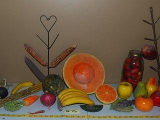 GROUP OF MISC  FAKE FRUIT   VEGETABlES