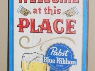 PABST BlUE RIBBON BEER SIGN