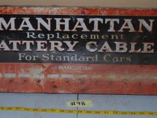 MANHATTAN BATTERY CABlE SIGN