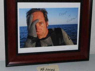 FRAMED MIKE ROWE AUTOGRAPHED PHOTOGRAPH