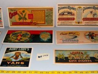 VINTAGE FOOD lABEl PAST CARDS