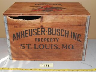ANHEUSER BUSCH INC  CRATE WITH CHECKER BOARD lID