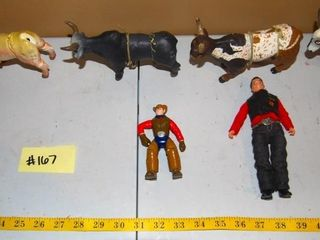GROUP OF MISC  BUll RIDING FIGURINES