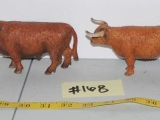 GROUP OF MISC  lONGHORN FIGURINES