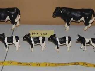 GROUP OF MISC  COW FIGURINES