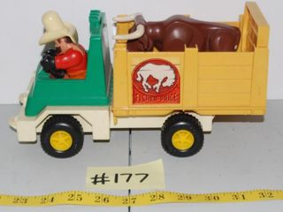 VINTAGE FISHER PRICE RODEO RIG   BUll