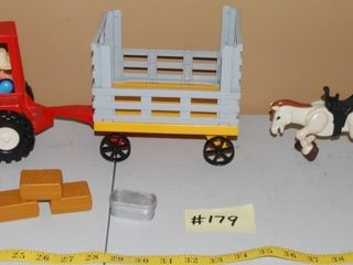 VINTAGE FISHER PRICE TRACTOR   MISC  FARM TOYS