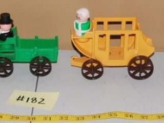 GROUP OF MISC  VINTAGE FISHER PRICE TOYS