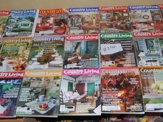 lARGE ASSORTMENT OF COUNTRY lIVING MAGAZINES