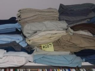 GROUP OF MISC  lINENS IN ClOSET