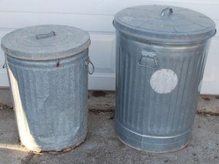 2   METAl TRASH CANS