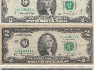 4   1976 TWO DOllAR BIllS