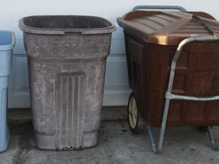 GROUP OF MISC  TRASH CANS