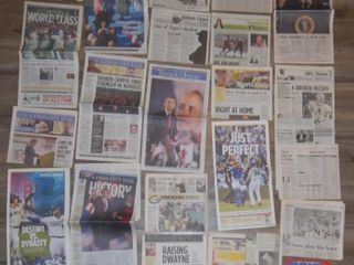 GROUP OF MISC  NEWSPAPER ARTIClES
