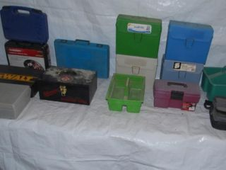 GROUP OF MISC  TOOlBOXES