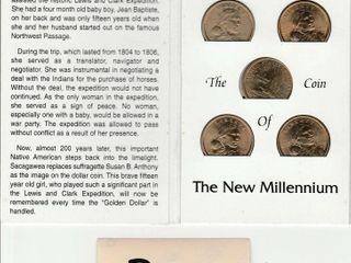 5   SACAGAWEA DOllAR COINS   COIN SAVER BOOK