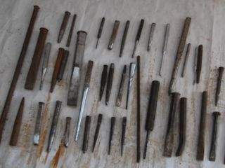 GROUP OF MISC  PUNCHES   CHISElS
