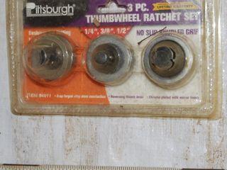 3 PIECE THUMBWHEEl RATCHET SET