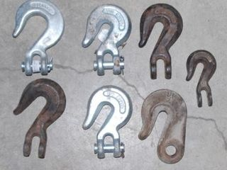 GROUP OF MISC  CHAIN HOOKS