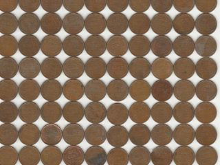 GROUP OF APPROX  100 WHEAT PENNIES