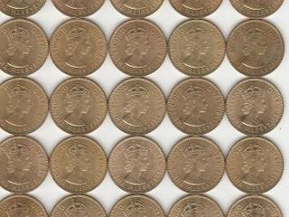 GROUP OF 50 JAMAICA ONE PENNIES