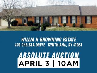 Willia H Browning Estate 429 Chelsea Dr., Cynthiana, KY 41031