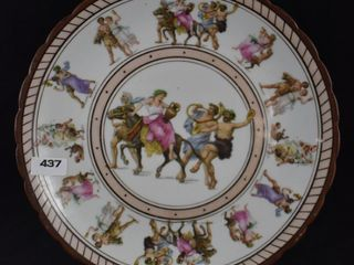 Mrkd  Germany 9 d plate decorated with Mythological scenes