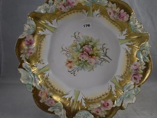 R S  Prussia 10 d blown out lily mold bowl